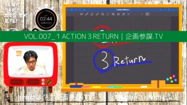 vol.007_現状を打開する「1Action3return」 企画参謀 .TV